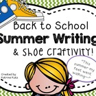 """Back to school writing and craft: """"This summer my feet wen"""