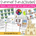 Summer Beach Activities ~ Language Arts, Math and Writing Bundle