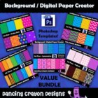 Background / Digital Paper Creator -Photoshop Template - B