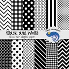 Background Paper Digital Scrapbooking Paper Black and White Mix