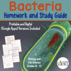 Bacteria and Prokaryotes:  Homework / Study Guide