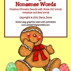 Baking Gingerbread Nonsense Words