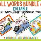 Ball Words Dolch List 9, 10 and 11 Bundle-A Mastery System
