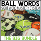 Ball Words Sight Word Mastery System-The Complete Editable Bundle