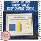 "Base Ten Blocks Game - ""Race to 100"""