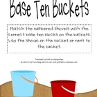 Base Ten Buckets- Math Practice