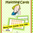 Base Ten Matching Picture Cards 'n Number Cards 0 to 100