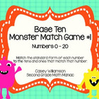 Base Ten Monster Match Game #1