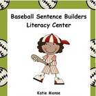 Baseball Sentence Builder Literacy Center