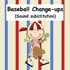 Baseball Sound Substitution Literacy Center