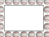Baseball Sports Borders and Background graphics - Commercial Use