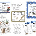 Baseball (Take me out to the Ballgame) Math and Literacy Bundle