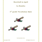 Baseball in April: La Bamba - Vocabulary Quiz