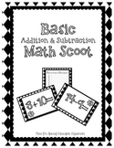 Basic Addition & Subtraction Math Scoot