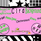Clipart Backgrounds - Basic Black and White