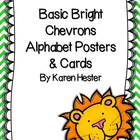 Basic Brights Chevron Alphabet Posters & Cards