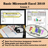 Basic Microsoft Excel with Video Lesson 3 of 3