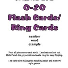 Basic Number Ring Cards - Counting to 20 - Preschool Kinde