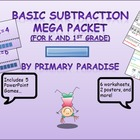 Basic Subtraction  MEGA Packet (For K and 1ST Grade)