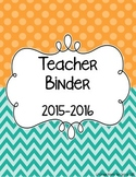 Basic Teacher Binder Dividers
