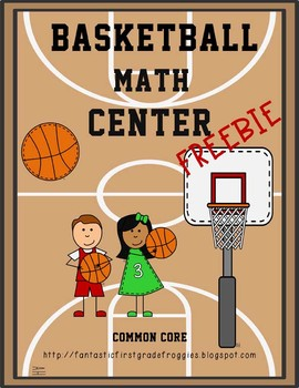 March Madness activities for kids - Basketball Math Fun Centers ~ recommended by HowToHomeschoolMyChild.com