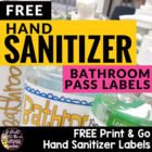 Bathroom Pass for Sanitizer Freebie