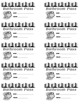 Bathroom Pass Images Pictures Becuo