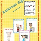 Bathroom Procedure Signs/Posters