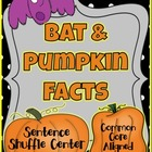 Bats and Pumpkin Facts Fluency Center: Sentence Shuffle