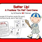 Batter Up! - fraction card game like Go Fish
