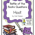 "Battle of the Books Questions: ""Hoot"" by C. Hiassen"