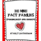 Be Mine Fact Families {Multiplication and Division}