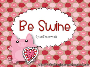 Be Swine {A Valentine Craftivity}