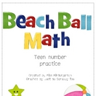 Beach Ball Math- Teen Number Practice