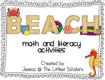 Beach Math and Literacy Activities Aligned to Common Core