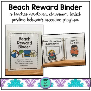 Beach Reward Binder (Positive Behavior Incentive Program)