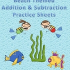 Beach Themed Addition & Subtraction Practice Book