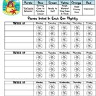 Beach Themed Behavior Management Calendar and Report