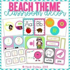 Beach Themed Classroom Decor Pack with Color/Shape Posters