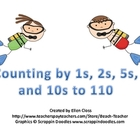 Beach Themed Counting to 110 by 1s, 2s, 5s, and 10s