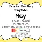 Beach Themed MAY Morning Meeting