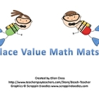Beach Themed Place Value Math Mats