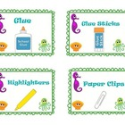 Beach and Ocean Themed School Supply Labels