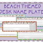 Beach/Summer Themed Desk Name Tags (Manuscript/D'Nealian)