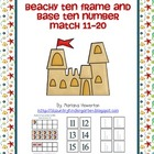 Beachy Ten Frame and Base Ten Number Match Activity Ocean