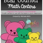 Bear Counter Kindergarten Math Unit