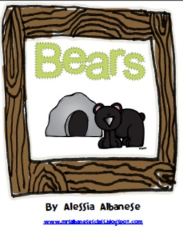 Bears Literacy and Math Activities