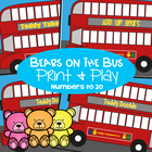 Bears on the Bus - Math Games / Centers & Worksheets