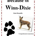Because of Winn-Dixie Comprehension Questions booklet