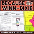 """Because of Winn-Dixie"" Packet: A Novel Study of the book"